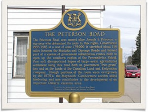Bancroft Ont Road History - Peterson Road