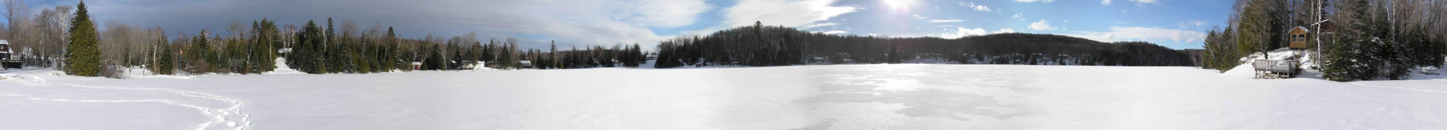 Panoramic View of Salmon Trout Lake, Bancroft Ontario